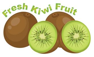 Fresh kiwi fruit on white background