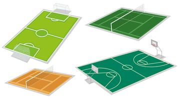 Four different kinds of courts