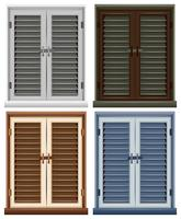 Quattro cornici delle finestre in diversi colori