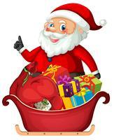 Santa claus y regalo