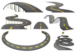 Road set vector