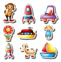 Sticker set of toys
