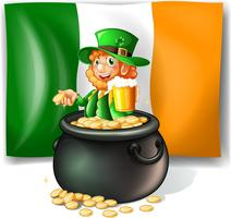 Leprechan dans le pot d'or