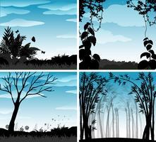 Silhouette scene of nature