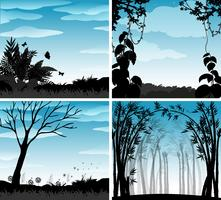 Scène silhouette de la nature