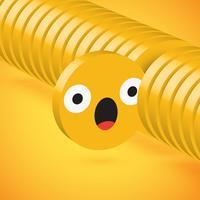 Emoticon de disco 3D alto detallado amarillo seleccionado, ilustración vectorial