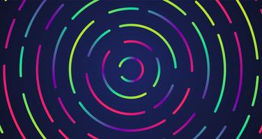 Colorful neon dashed lines, vector illustration