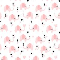 Olifanten naadloos patroon