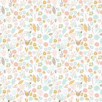 Bonito patrón floral sin fisuras