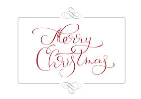 abstract frame and calligraphic text Merry Christmas. Vector illustration EPS10