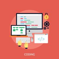 Progettazione dell'illustrazione concettuale di codifica