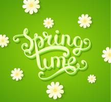 Frühlingszeitkonzept mit Blumen.