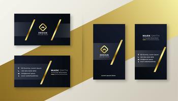 Premium guld och svart visitkortdesign