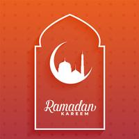 elegant ramadan kareem moon and mosque design