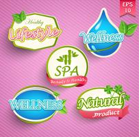 Set of healthy lifestyle vector