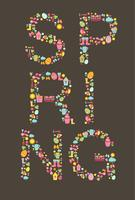 Spring Lettering, vector template.