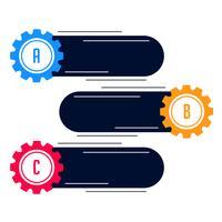 infografía de engranajes en blanco moderno banner