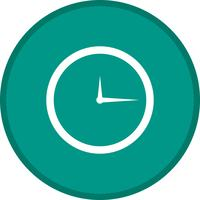 Clock Glyph Multi color Background icon