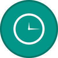 Icono de fondo de color de glifo de reloj
