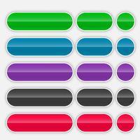 shiny colorful web buttons set