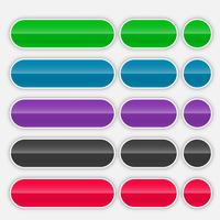 shiny colorful web buttons set