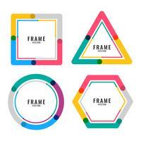 geometric colors lines frame design