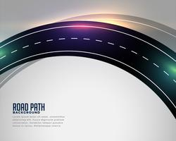 curved asphalt road track background