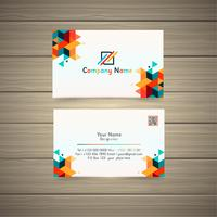 geometric business card vector