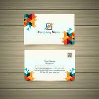 tarjeta de visita geométrica