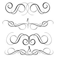 art calligraphy set of vintage decorative whorls for design. Vector illustration EPS10