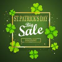 St.Patrick's day grote verkoop achtergrond.