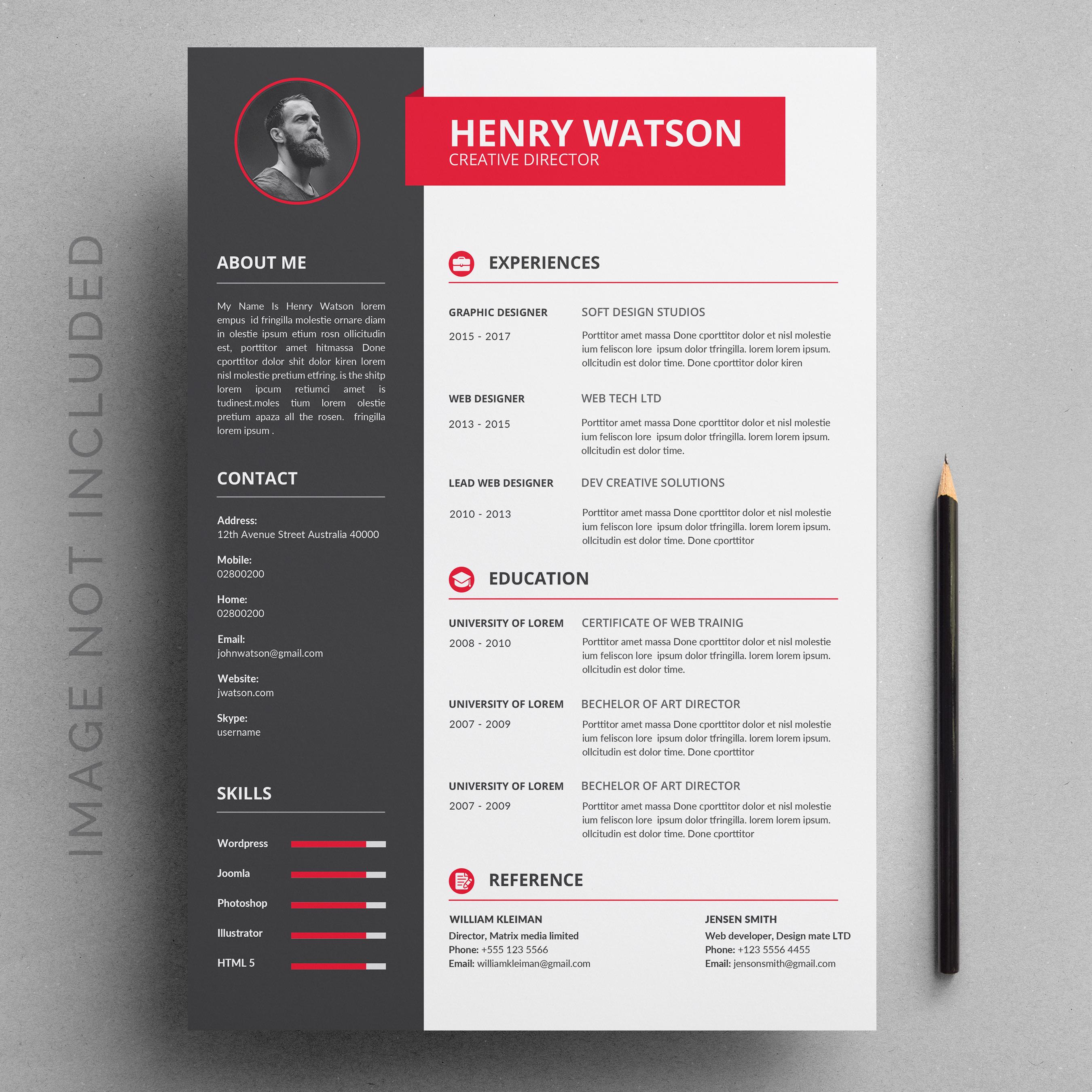 Resume Template Download Free Vectors Clipart Graphics Vector Art