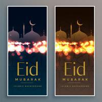 conjunto de design de banners eid linda
