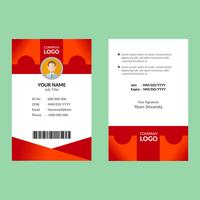 Red ID Card Template