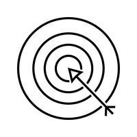 Darts lijn zwart pictogram