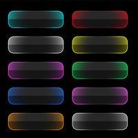 set van kleurrijke neon web knoppen