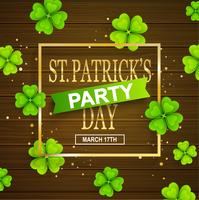 St. Patrick party announcement
