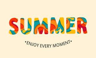 Summer card Enjoy every moment. vector