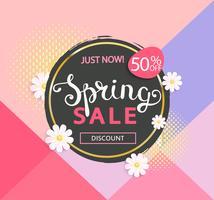 The spring sale logo vector