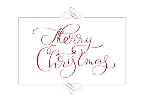 abstrakt ram och kalligrafisk text God jul. Vektor illustration EPS10