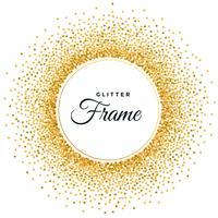 abstract golden glitter frame background