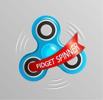 Fidget spinner logo. vector