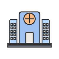 Icona della linea ospedaliera riempita