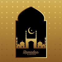 premium ramadan kareem golden festival background