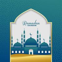vacker ramadan kareem islamisk bakgrund
