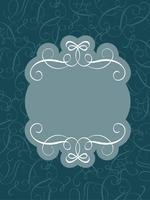 Decorative vintage Frame and Borders Art on dark blue. Calligraphy lettering Vector illustration EPS10