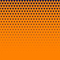 fundo laranja com meio-tom triângulo azul escuro