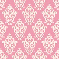 Pink damask pattern in vintage rich royal style
