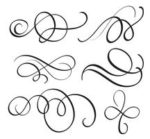 art calligraphy flourish of vintage decorative whorls for design. Vector illustration EPS10