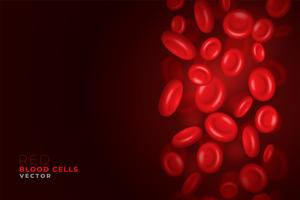 red blood cells flowing background